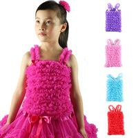 Wennikids Hot Sale Little Princess Girl S Solid Color Pettitop Chiffon Petti Tops Tank Matching To