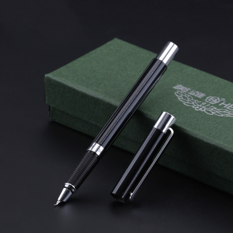 1pc High Quality Hero Fountain Pen 0.38mm Hooded Nib Extra Fine Financial Pens 0.8mm Bent Nib Art Calligraphy Pens Business Gift fountain pen curved nib or straight nib to choose hero 6055 office and school calligraphy art pens free shipping