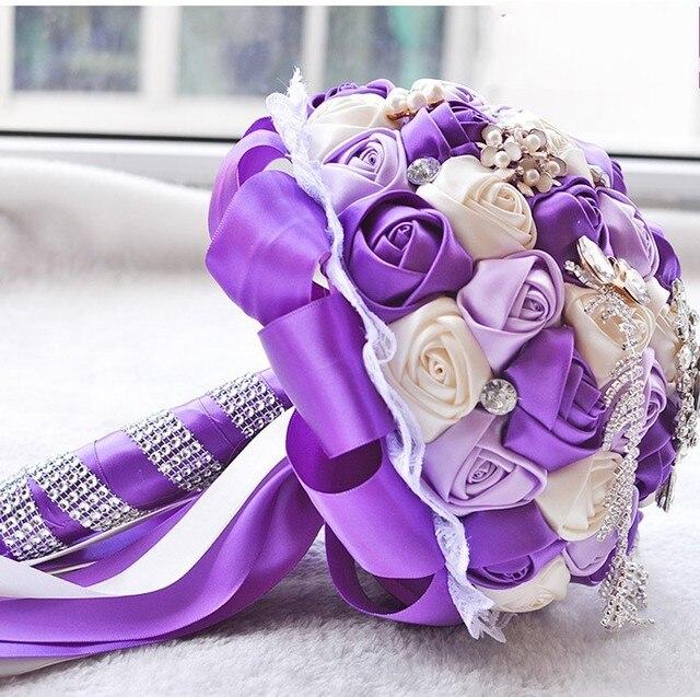 Горный Хрусталь свадьбы Брошь Букеты различных clours Невесты Руки с Цветами в Руках Свадебные Украшения