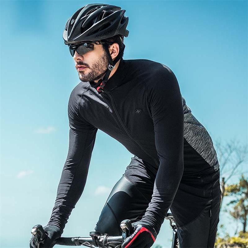 Santic Automne Hiver Cyclisme Veste Hommes à manches longues vêtement pour cycliste Coupe-Vent Coupe-Vent Manteau VTT Vélo Maillots à manches longues