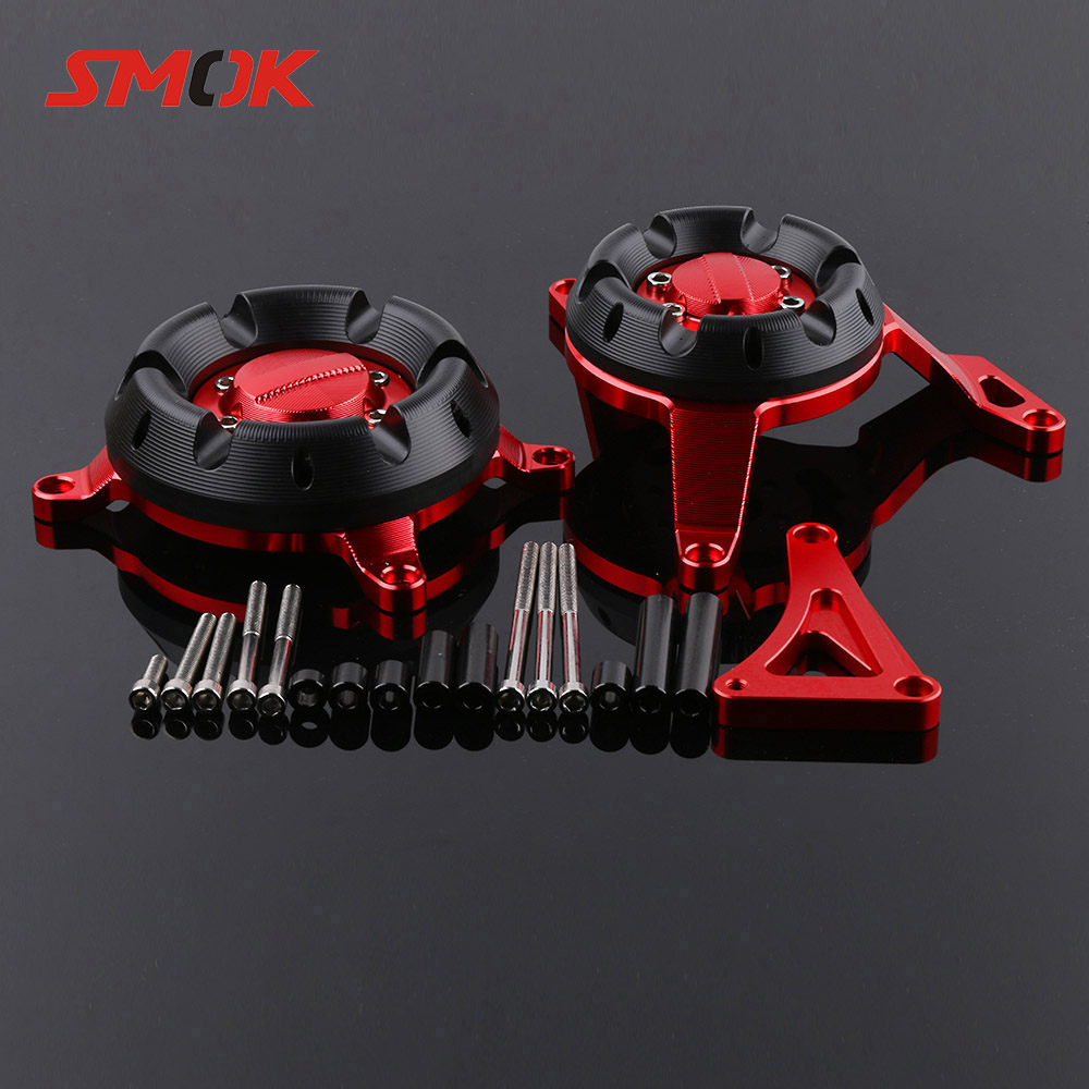 SMOK For Kawasaki Ninja 250 300 Z250 Z300 Motorcycle Accessories CNC Aluminum Engine Stator Protective Protector Guard Cover motorcycle cnc engine guard stator protective plug clutch protect slider cover right