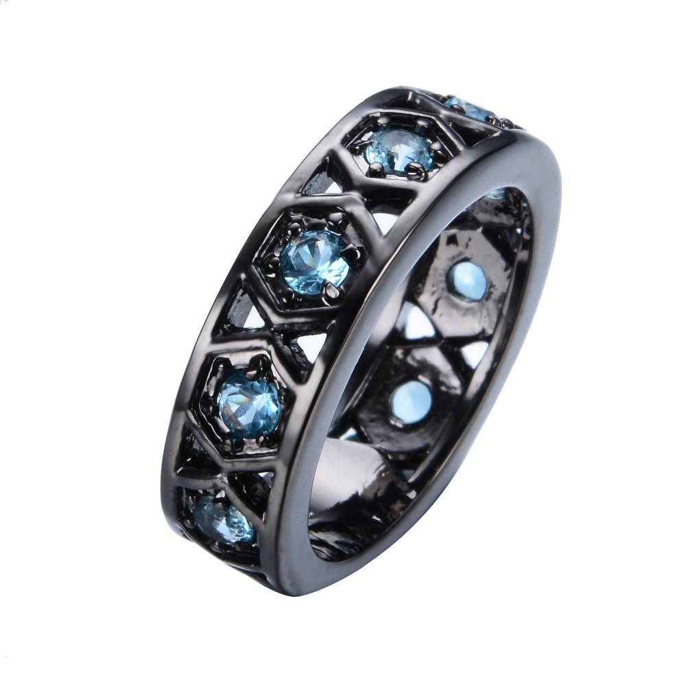 wedding two channel band with and tone top bands blue tungsten mens collections carved carbide northernroyal rings black