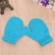Baby Kids Boys Girls Unisex Knitting Warm Soft Gloves Candy Colors Mittens(China)
