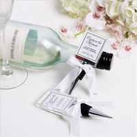 1Pcs Casamento Crystal Block Frame Wine Stopper Wedding Favors And Gifts Event Party Decoration Supplies Souvenirs
