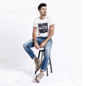Image 5 - SIMWOOD שטף Slim Fit ג ינס גברים קלאסי בציר באיכות גבוהה 2020 אביב האביב חדש מקרית Streetwear ינס מכנסיים 190026