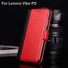 for Lenovo Vibe P2 case Luxury Ostrich Leather coque with Stand fashion hit color phone Case for lenovo p2 capa funda Flip cover