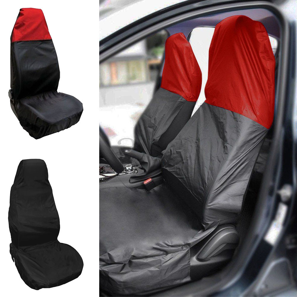 Car Front Seat Protector Cover Heavy Duty Universal Waterproof Auto Seats Covers Car Seat Cover Breathable Cushion Protector