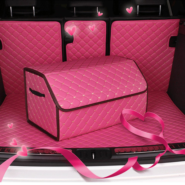 Car Trunk Organizer Eco-Friendly Super Strong  Durable Collapsible Cargo Storage Box For Auto Trucks SUV large size Storage bag