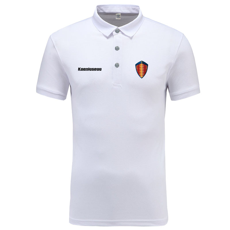 Koenigsegg logo   Polo   Shirt Men Brand Clothes Solid Color   Polos   Shirts Casual Cotton Short Sleeve   Polos