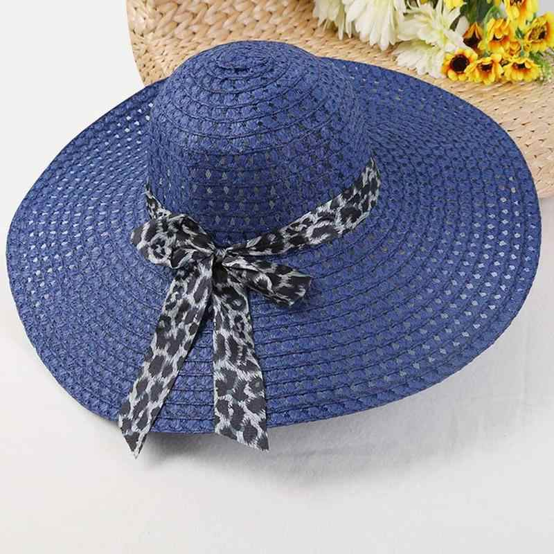 2daa04e3ab239 ... Huation 2019 New Sun Hats for Women Girls Wide Brim Floppy Straw Hat  Summer Bohemia Beach ...