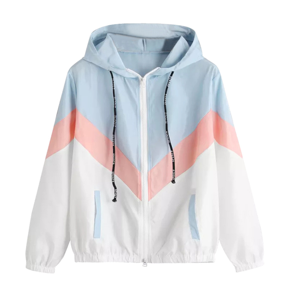 2018 Autumn Spring Fashion Patchwork Coat Windbrea...