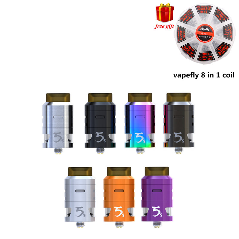 все цены на Free gift!!! Original IJOY RDTA 5S Tank Atomizer 2.6ml Top Fill Aiflow for Captain PD270 Mod electronic cigarette