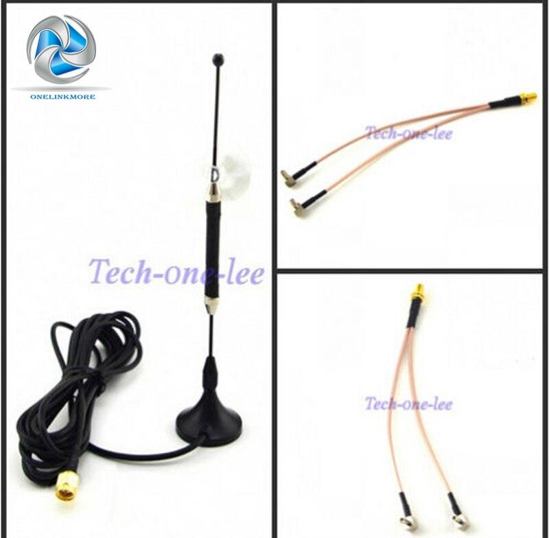 10dBi 4G Antenna SMA Plug 696-960MHz / 1710-2690MHz Long Range RG174 3M+ SMA Female to Y type 2 X TS9 Male RG316 Cable 15cm