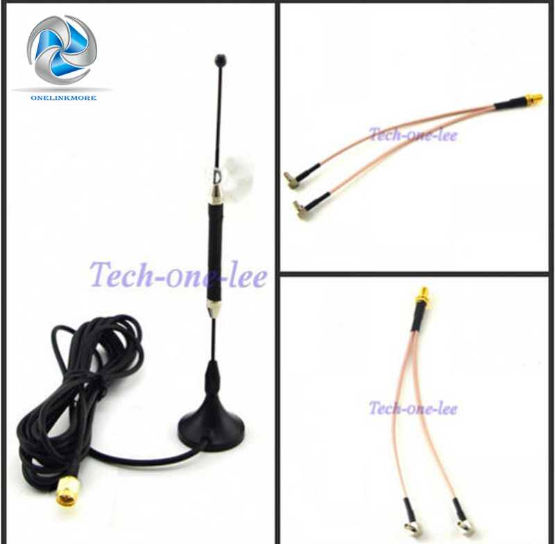 10dBi 4G Antenna Spina SMA 696-960 MHz/1710-2690 MHz Lungo Raggio RG174 3 M + SMA Femmina di tipo Y 2 X TS9 Maschio RG316 Cavo 15 cm
