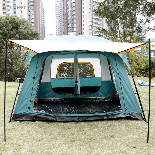New High Quality Camping Tent 8 Person 2 Bedroom 1 Living Room Outdoor