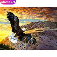MomoArt Diamond Painting Eagle Full Drill Diamond Mosaic Square Rhinestone Diamond Embroidery Animal Cross Stitch Gift momoart diamond embroidery landscape full drill diamond painting square rhinestone diamond mosaic animal cross stitch