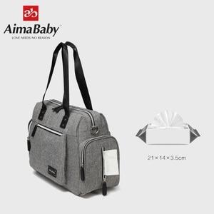 Image 5 - Luiertas детская коляска подгузник для мам вместительная сумка Органайзер для мамы + пеленка + влажная сумка + лямки для коляски