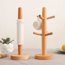 Wood Cup Rack Mug Coffee Cup Storage Stand Office Kitchen Home Organization Hanger Stand Tools F20174036