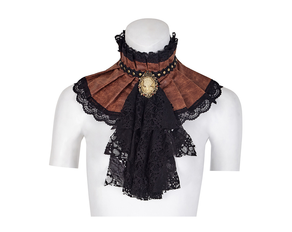 064cde866a0a PUNK RAVE Gothic Accessories Vampires Mystique Exquisite Lace Metal Chain  Cross Headwear Retro Apparel Scarves Wraps