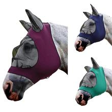 Pet Supplies Horse Detachable Mesh Mask With Nasal Cover Horse Fly Mask Horse Full Face Mask Anti-mosquito Nose With Zipper cashel crusader fly mask with long nose all sizes