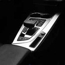 PARA Audi A4 B9 A5 Engrenagem Painel Decorativo Quadro de Controle Interior Acessórios Do Carro Modificado Engrenagem Decoração Remendo 2017-2018