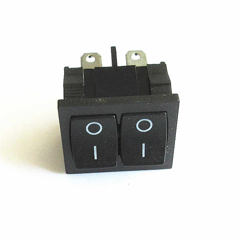 Nero On/Off Doppio Snap-in Rettangolo Rocker Switch Auto Cruscotto DPST 12 V 4pin