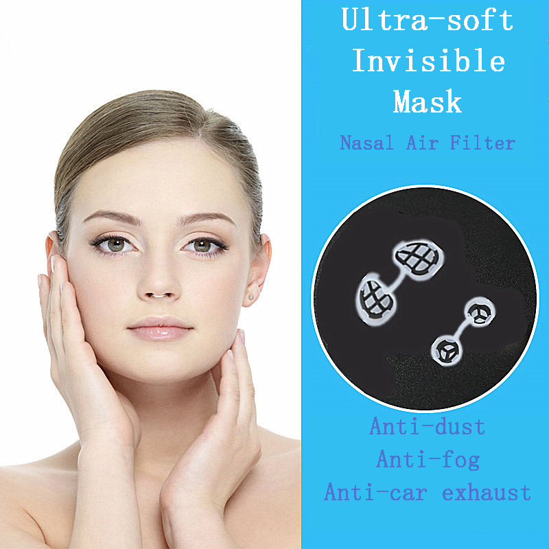 Invisible Anti-industrial Dust Pollen Automobile Exhaust Anti-haze Men And Women Nasal Filter Nasal Mask Nasal Congestion Mask