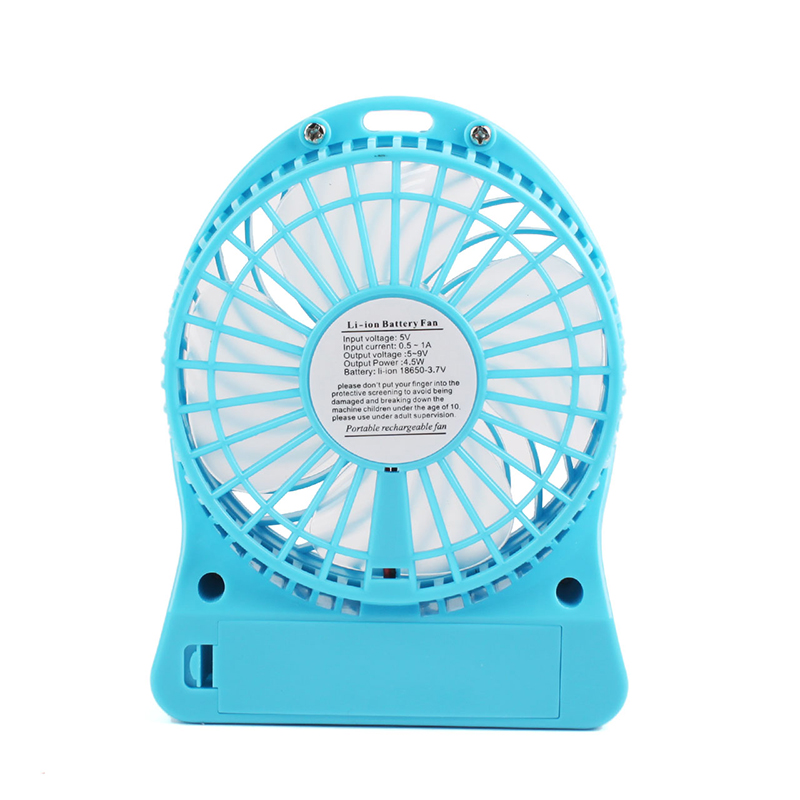 Color : Blue Mini Portable Cooling Fan Micro Air-Cooled Desktop Air Cooling Fan USB Desktop Fan Mini Personal Ice Fan 3 Gear Speed