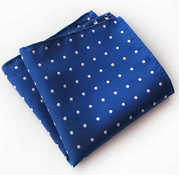 RBOCOTT Mens Pocket Piazze del Modello di Puntino Blu Fazzoletto Fazzoletto Per Gli Accessori del Vestito di Affari Degli Uomini di Modo 25 cm * 25 cm