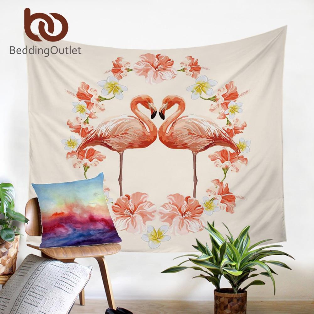 Flamingo Tapestry Wall Hanging Sandy Beach Throw Rug Blanket Camping Tent Travel Yoga Mattress Mandala Tapestry Tap281 Tapestry