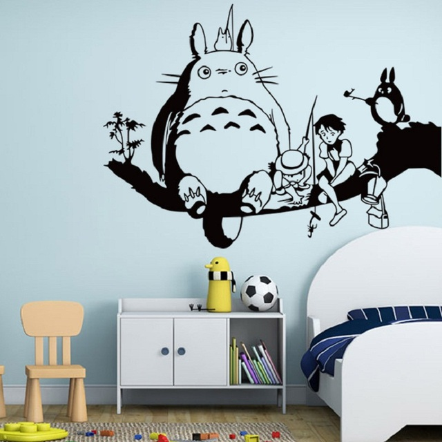 Hayao Miyazaki Animation Ghibli Totoro Wall Stickers For Kids Room