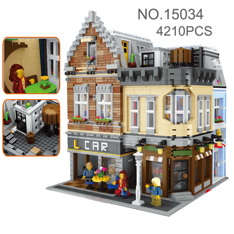 Education Building Blocks Set Compatible Lepin Genuine MOC Series City Street House Bricks Toys For Children Gifts 15034 hot sembo block compatible lepin architecture city building blocks led light bricks apple flagship store toys for children gift