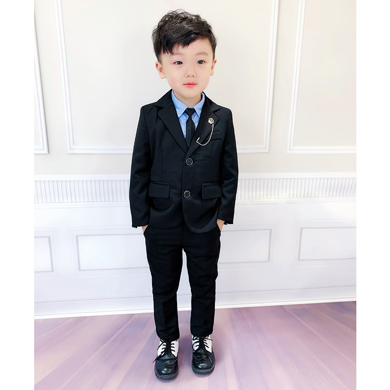 e40c6c9078 Child Suit black color good quality school boys Prom Suit 2 10 years old  kids Wedding Costumes Slim and gentle-in Suits from Mother   Kids on  Aliexpress.com ...