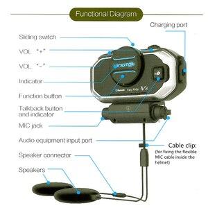 Image 4 - Vimoto Englisch Version Easy Rider V8 Multi funktionale Motorrad BT Sprech Motorrad Helm Intercom Bluetooth Headset