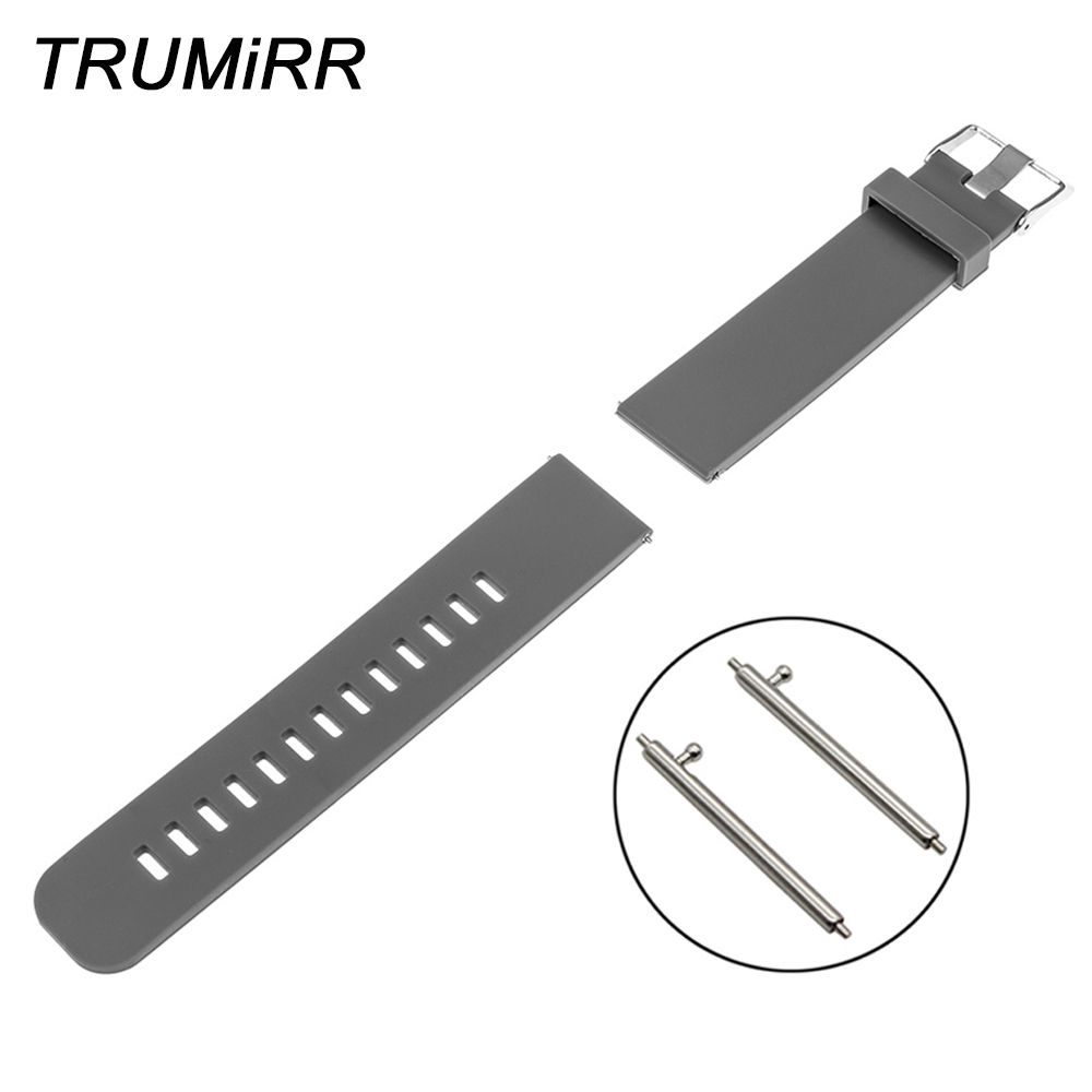 Quick Release Silicone Rubber Band for Asus Zenwatch 1 2 22mm Pebble Time Steel LG G Watch W100 W110 Urbane W150 Strap Bracelet lg watch lg watch w150 urbane silver