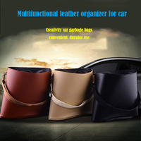 Creative Car Using Rubbish Bag Multifunction Sundries Organizer Garbage Bag For Car New Design Leather Disposal