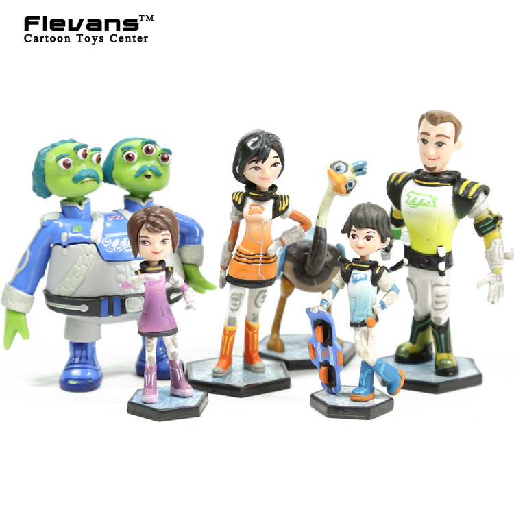 Anime Cartoon Miles From Tomorrowland PVC Figures Model Toys Kids Toys Gifts 6pcs/set miles from tomorrowland гравитационный диск