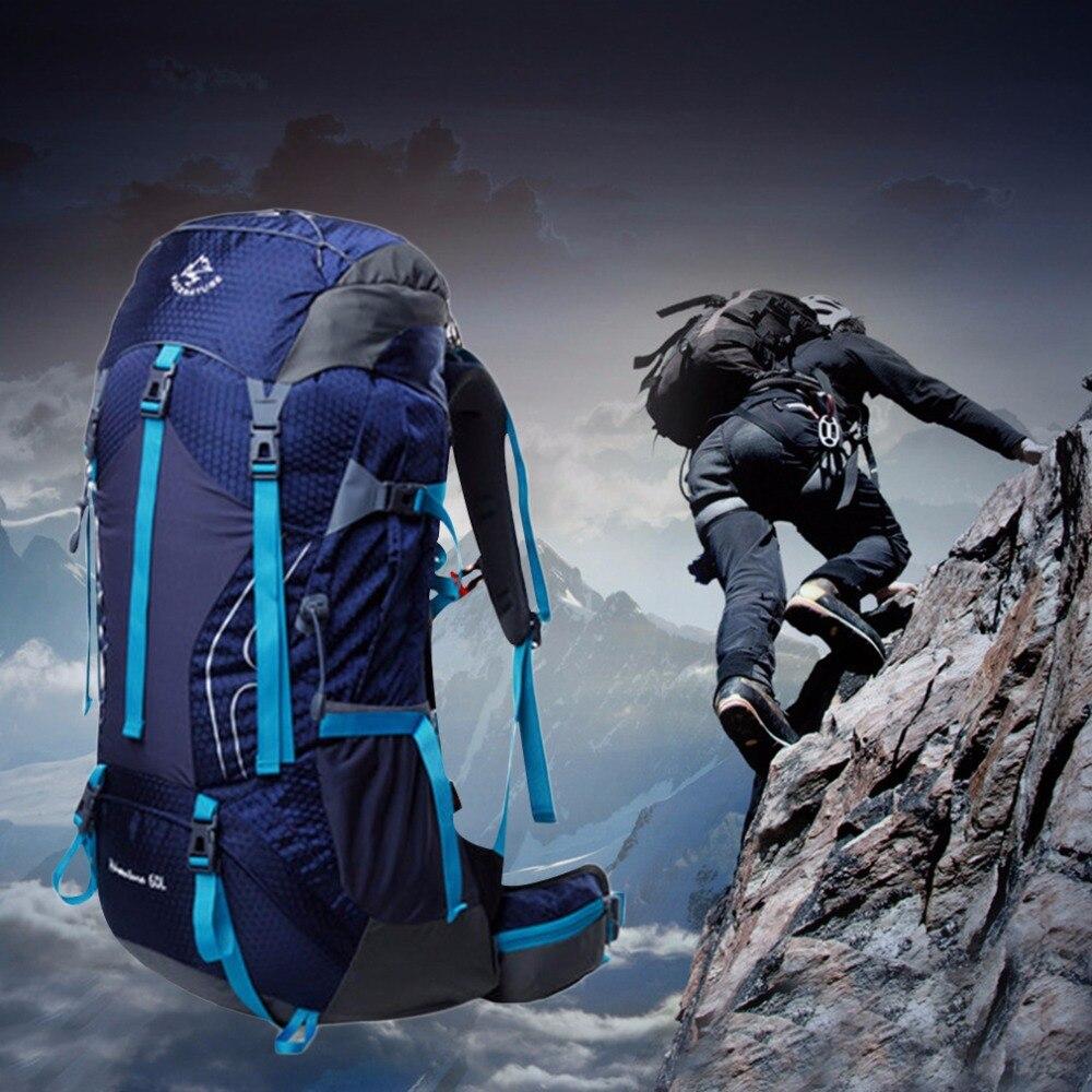60L Outdoor Sport Hiking Camping Mountaineering Travel Backpack Rucksack Bag Waterproof Sport Bags TOP Quality