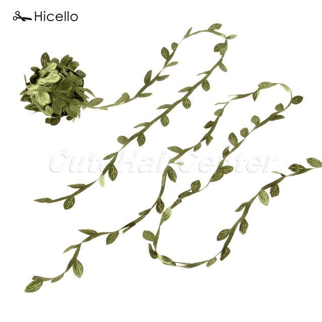 hicello green wreath leaves vine rattan diy craft flower garland