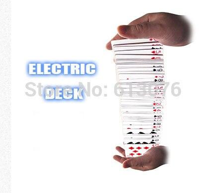 Plataforma elétrica Acrobático Cachoeira Cartões Truques de Mágica Ilusões de Palco Adereços Comédia Truque Magie Metnatlism