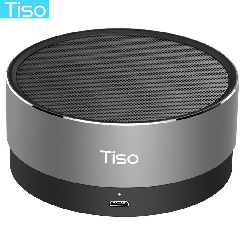 Tiso T10 Bluetooth speaker metal mini portable wireless 10-15 hours playtime 5W loudspeaker outdoor IPX5 waterproof AUX TF MIC