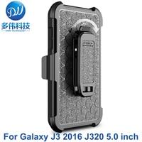 3 IN 1 Hybrid Shockproof Armor Beschermende Telefoon Terug Case Voor Samsung Galaxy J3 2016 J320 J320F J3109 J3 (6) Stand Met Riemclip