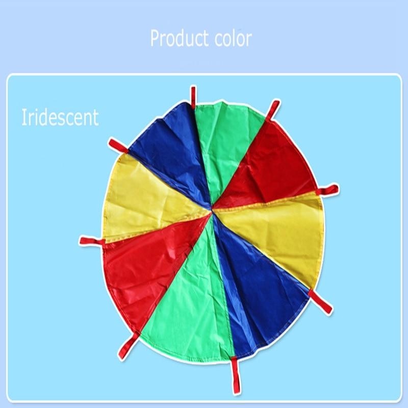 Dia-2M3M-Child-Kid-Sports-Development-Outdoor-Rainbow-Umbrella-Parachute-Toy-Jump-sack-Ballute-Play-Parachute-816-Bracelet-2