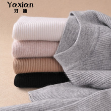 ФОТО samiarit cashmere pullover full sleeve cashmere soft elastic sweaters pullovers autum winter sweater half turtleneck female