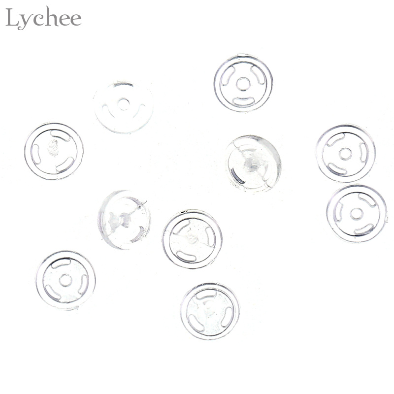 Lychee 20pcs 4mm Snap Buttons Baby Doll Clothes Buttons DIY Sewing Craft Scrapbooking Accessories