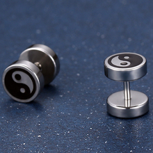 Ying & Yang Titanium Steel Stud Earrings