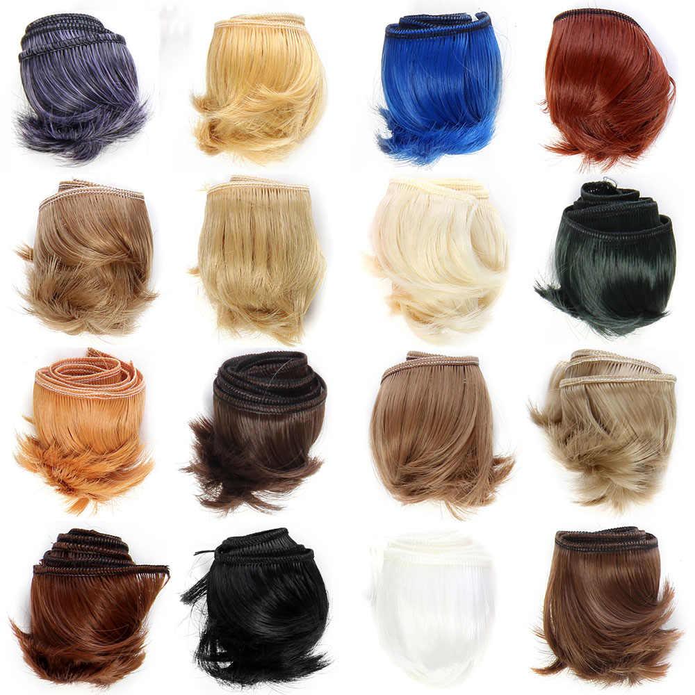 Высокое качество 5 см кукольные волосы кусок Коричневый Белый Красный Синий Черный Серый прямые кукольные волосы для BJD куклы DIY волосы парики