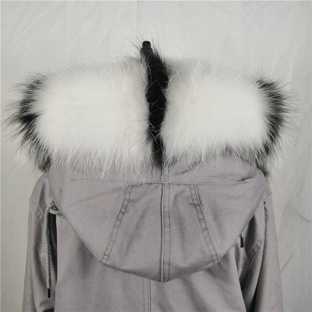 2018 Real Raccoon Fur Scarf Women 100% Natural Raccoon Fur Collar Winter Warm Shawl Fur Collar Scarves