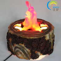 Indoor Campfire Stump LED Electric Brazier Lamp Artificial Flame For Halloween Party Christmas Decoration Of Bar