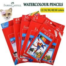 Дешевые Faber Castell акварельные карандаши 12/24/48/60/72 компл. Aquarelle Priscolor пастила карандаш Professional воды растворимый карандаш